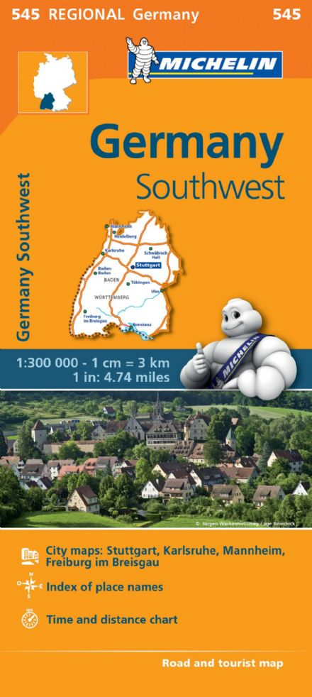 545 Germany South West - Michelin Regional Map
